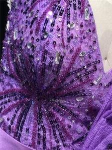 Image 5 - Robe de soirée sans bretelles, forme sirène, longueur au sol, personnalisé sans bretelles, violet, nouveauté 2020