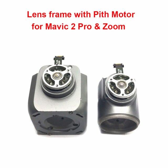 מקורי חלקי תיקון עדשת מסגרת עם המגרש מנוע לdji Mavic 2 פרו & זום Drone Gimbals מנוע חלקי חילוף (משמש)