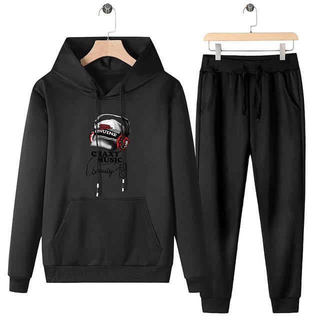 2020 Trainingspak Mannen Mode Herfst Winter Sporting Suit Hoodies + Joggingbroek 2 Stukken Sportwear Set Mannelijke Joggers Hoody Mannen Pak