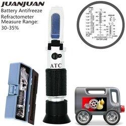 30-35% el araç üre test cihazı etilen glikol antifriz donma noktası araba pil refraktometre Tester kutusu ile 30% kapalı