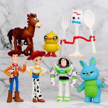 Figuras de acción de Disney para niños, figuras de Toy Story 4, Woody, Jessie, Buzz Lightyear, Forky Pig Bear, regalo para niños, 2020