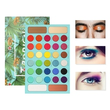 New Docolor 34 Color Matte Shimmer Eyeshadow  Palette Waterproof Smudge-proof Eye Shadow Powder