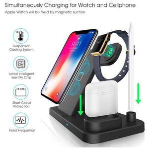 Image 4 - Wireless Charger 4 In 1 10W Phone Holder Fast Charger Station For Apple Watch 5 4 3 2 Airpods 1 2 Iphone 11 Pro Max XR X Docking