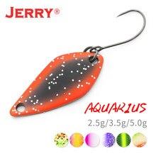 Jerry Aquarius 2.5g 3.5g 5g маленькие микро рыболовные ложки, форель, ложка, приманка, Спиннер, приманка, двусторонний цвет