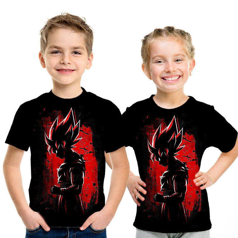 Dragon Ball 2019 Newest 3D Hrarjuku Z Goku T-shirts Kids Casual Boys And Girls Tops T-shirt Clothing Funny Parent-child Outfit