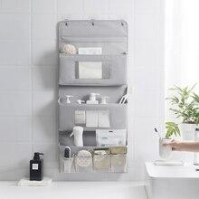 Nordic Storage Bag Wall-mounted Door Behind Oxford Cloth For Bathroom Toiletries Kitchen Bedroom Sundries Toy Storage Organizer