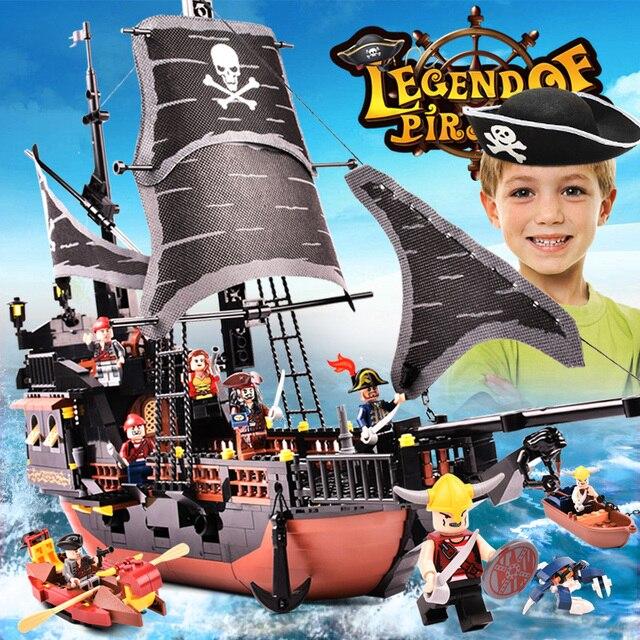 Gudi Compatible Lepining Pirate caraïbes Royal espagne RS navires bateaux ensembles noir perle modèle blocs de construction enfants jouets