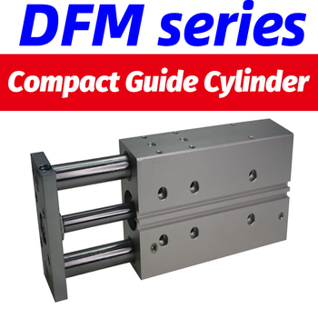DFM-12-50-P-A-GF Compact guide cylinder Thin Three axis air pneumatic cylinder with guide rod DFM- bore 12 16mm stroke 10-100mm