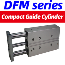 DFM-20-40-P-A-KF Compact guide cylinder DFM-25-20-P-A-KF air pneumatic cylinder with guide rod DFM- bore 20 25mm stroke 20-100mm стоимость
