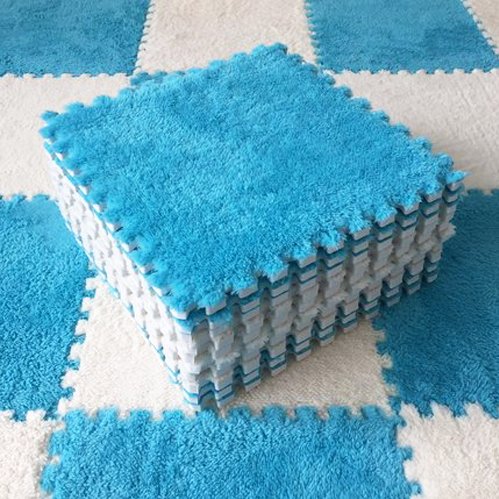 10 pces macio do luxuoso tapete do jogo do bebê da esteira das crianças brinquedos do bebê eva quebra-cabeça da espuma tapete no quarto das crianças mantenha o playmat morno 30*30*0.8cm