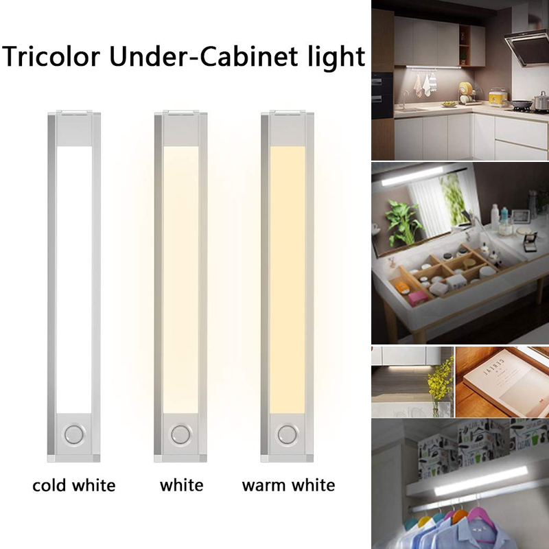 Işıklar ve Aydınlatma'ten Kabin Altı Işıkları'de 60 LED dolap ışığı hareket sensörü kablosuz manyetik işık dolap koridor merdivenler M25 title=