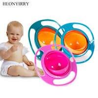 Fuente de alimentación creativa para bebés, cuenco de alta calidad, vajilla de comida para bebés, para niños, cuenco de entrenamiento con giroscopio