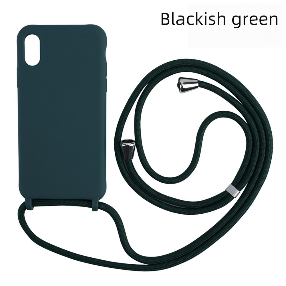 luxury Silicone Chain Necklace Cell Phone Case With Lanyard Neck Strap Rope Cord For iPhone 11 pro MAX 6 7 8 Plus X XS XR funda