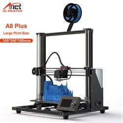 2020 New Arrival duża drukarka Anet A8 Plus wszystkie metalowe drukarki DIY 3D drukarki z 300*300*350mm rozmiar wydruku|Drukarki 3D|   -