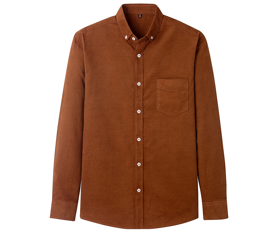 Hfad1aa6fd40948ad847c49d804ddcb7cl Casual Mens Corduroy Shirt Pure Cotton Long Sleeve Brown Thick Winter XXL Regular Fit New Model Male Button Down Shirts