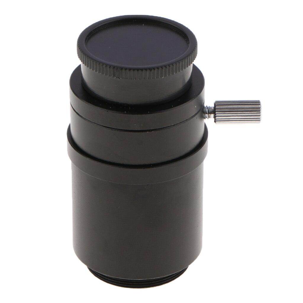 1X CTV CCD C-Mount Lens Adapter for Trinocular Stereo Microscopes - Black