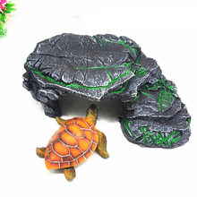Resin Ladder Turtle Climbing Platform Hide Cave Fish Tank Reptile Accessories Lizard Amphibian Landscaping Aquarium Ornament(China)