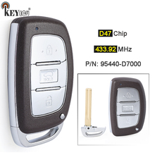 KEYECU FSK 433.92MHz ID47 Chip P/N: 95440 D7000 3 Button Replacement Smart Remote Car Key Fob for Hyundai Tucson 2018 2020