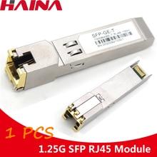 1.25G Gigabit RJ45โมดูลSFP 1000Mbps SFPทองแดงRJ45โมดูลSFP TransceiverสำหรับCisco/Mikrotik Ethernetสวิทช์