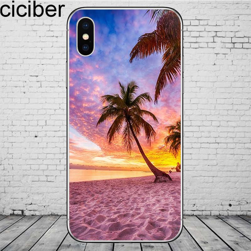 جراب هاتف ciciber Beach Aloha لهاتف iPhone 11 Pro Max جراب لهاتف iPhone X XR XS Max 7 8 6 6S Plus 5 5s SE جراب من السيليكون الناعم