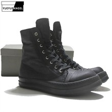 Brand Men Canvas Shoes Luxury Trainers Ankle Boots Lace Up S