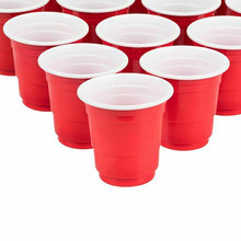 50pcs 2oz Disposable Plastic Cups Mini Jelly Cups Tumblers Red Drinking Glasses Wedding Party Supplies Kichen Tool(China)