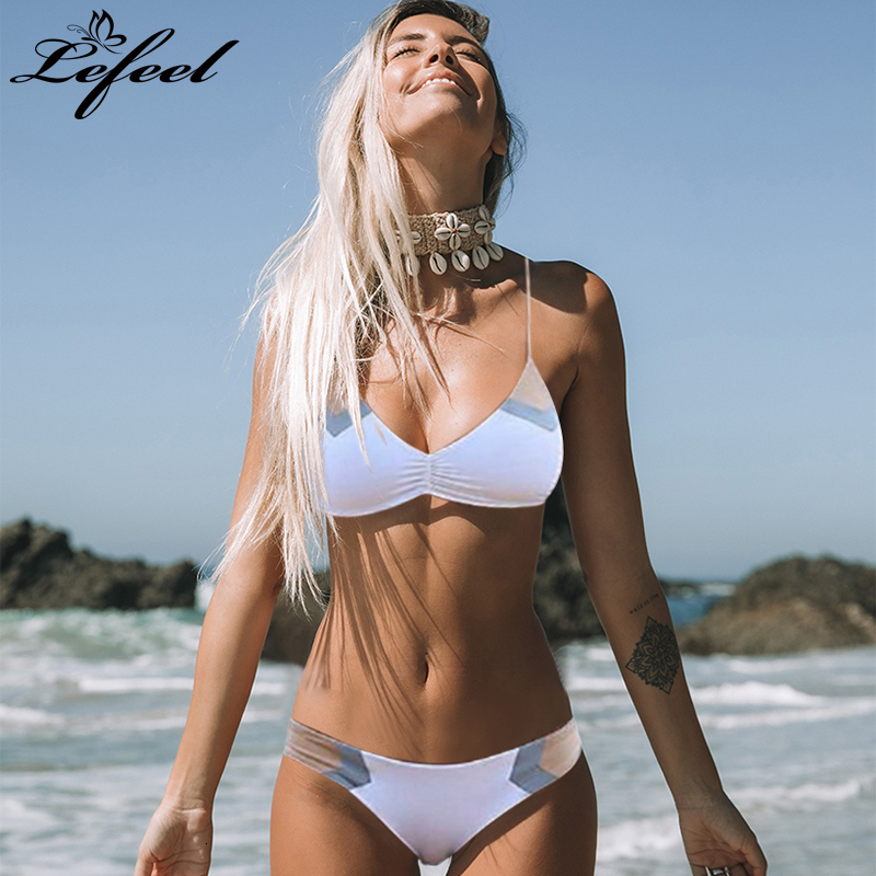 Women Print Patchwork Bikinis Set Sexy Low Waist Swimsuit New Swimwear Summer Halter Bathing Suit Female Beachwear Biquini