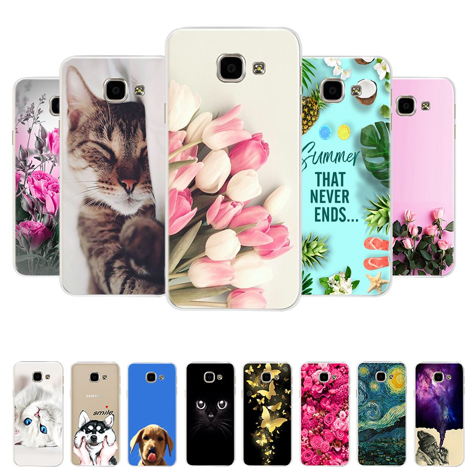 For Coque Samsung Galaxy A5 2016 Case Cover A510 A510F Soft TPU Silicone Back Cover For Funda Samsung A5 2016 Phone Cases Bumper