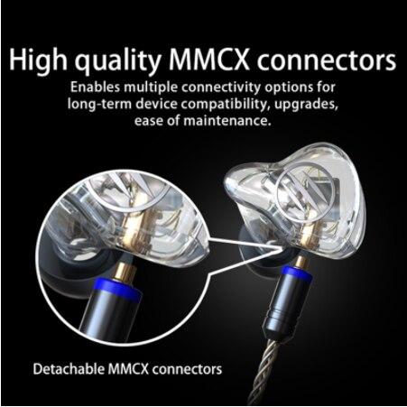 BGVP DM7 6 BA w ucho monitory słuchawki hi-fi nowy 2019 dostosuj sterowniki IEM knowles sonion z prezentem zestaw słuchawkowy z dwoma kablami