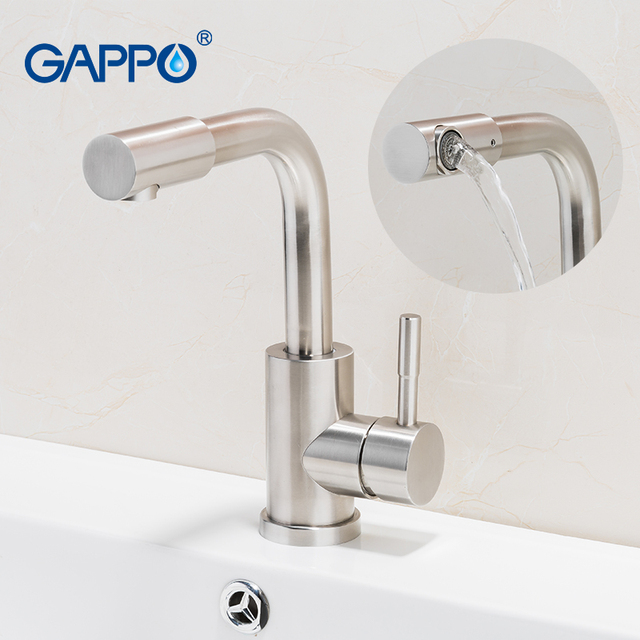 304  Brushed Stainless Steel Bathroom Basin Faucet