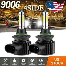 2 pçs cartnt super brilhante carro farol lâmpadas h7 led h9 hb3 9005 hb4 9006 h11 h8 led farol 200w 20000lm 6500k 12v 8000k lâmpada