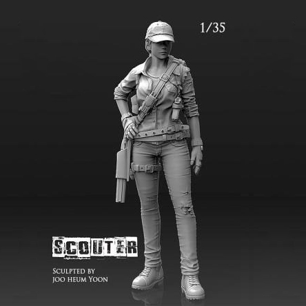 1/35 (50mm) Resin Kits Modern Female Soldiers Were Mercenaries Resin Self-assembled A-031