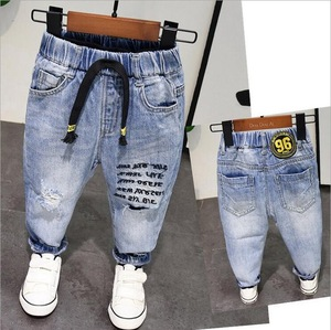 Image 1 - New Spring Autumn Style Baby Boy Jeans Pants 2 6years Age Kids Boys Denim Jeans Boys Trousers Pure Cotton High Quality 2 6years