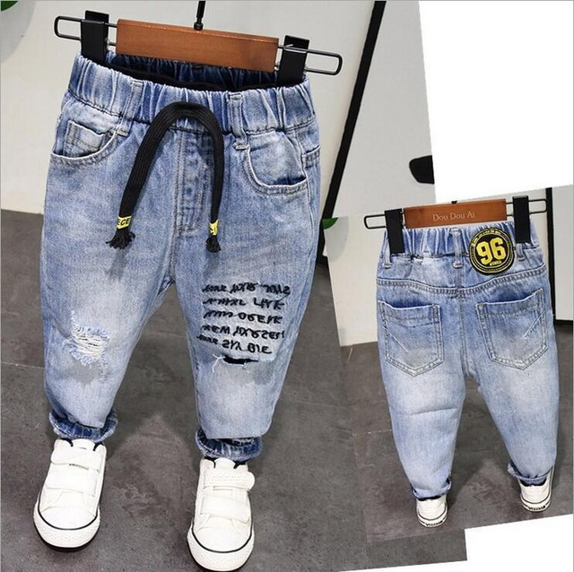 New Spring Autumn Style Baby Boy Jeans Pants 2 6years Age Kids Boys Denim Jeans Boys Trousers Pure Cotton High Quality 2 6years