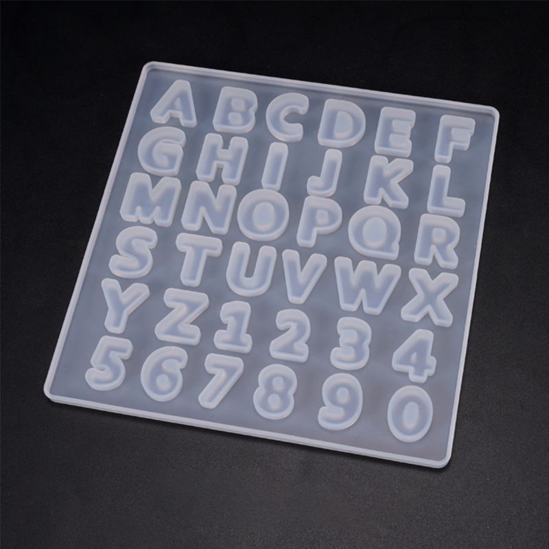 Epoxy Resin Digital Letter Mold Decoration Silicone Molds DIY Crafts Making Accessories