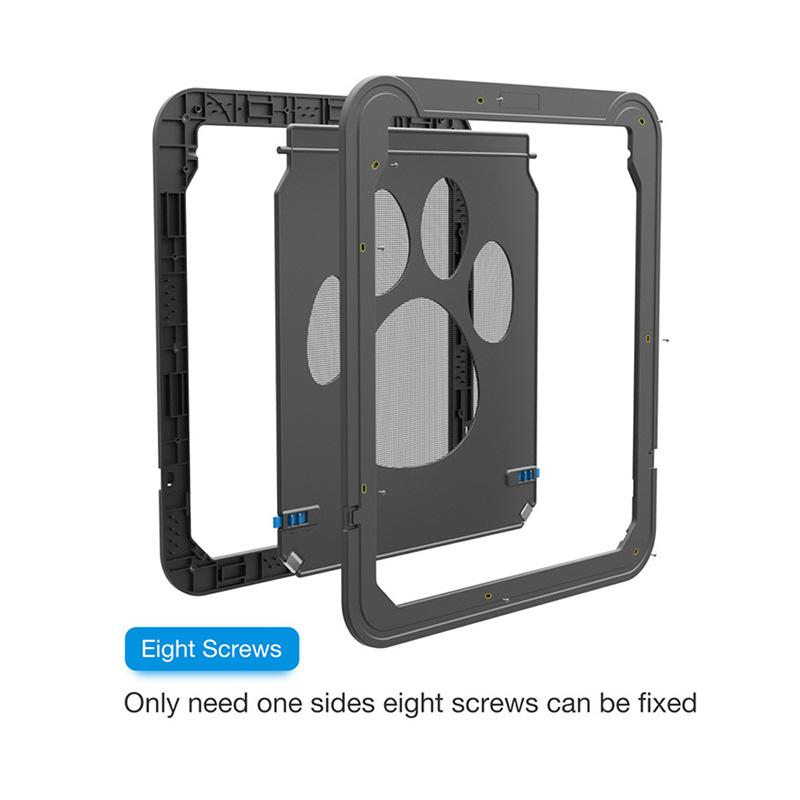 4-Way-Lockable-Plastic-Pet-Big-Dog-Cat-Door-for-Screen-Window-Safety-Flap-Gates-Pet (2)
