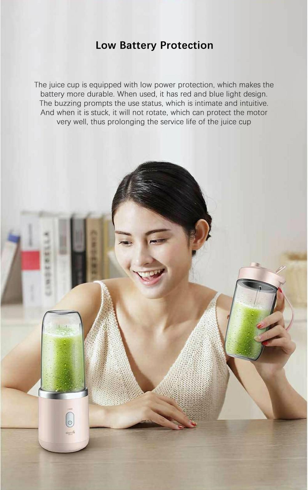 Hfad2ccd7e1ab4a9db2c59d66d4d5cb91M Xiaomi Deerma Portable Blender Electric Juicer 400ML Wireless Automatic Multipurpose USB Rechargable Mini Juice Cup Cut Mixer