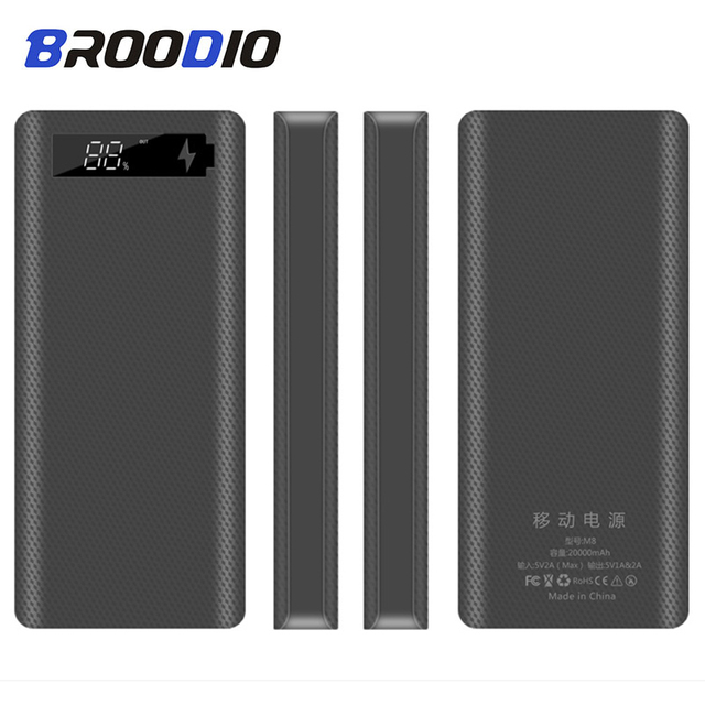 5V Dual USB 8*18650 Power Bank Case With Digital Display Screen Mobile Phone Charger DIY Shell 18650 battery Holder Charging Box