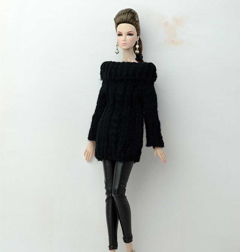 1/6 Одежда для кукол BJD SD модный наряд длинный шерстяной свитер красивый сексуальный красочный ручной работы красивые аксессуары для кукол игрушки для детей