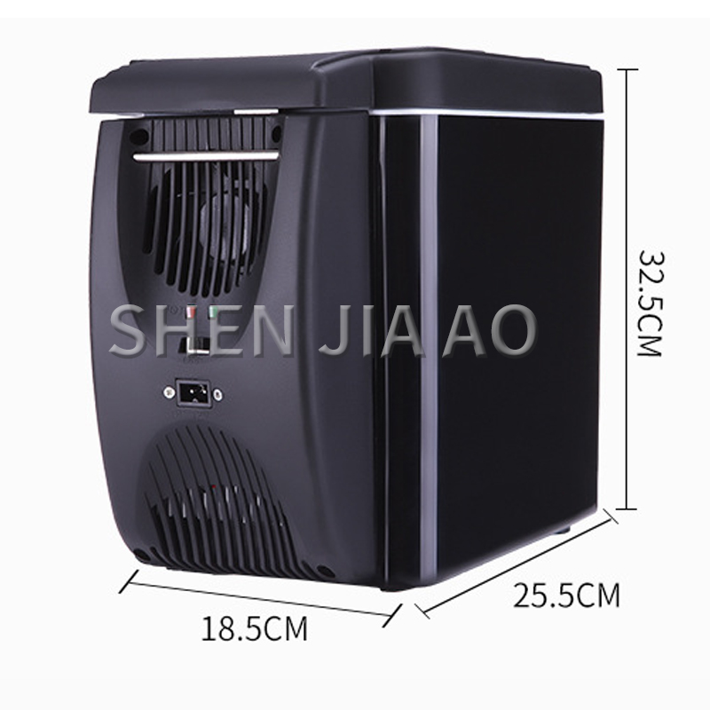6L Mini Portable Refrigerator Car Heating And Cooling Box Car Hot And Cold Small Refrigerator Car Household Dual-use Refrigerato