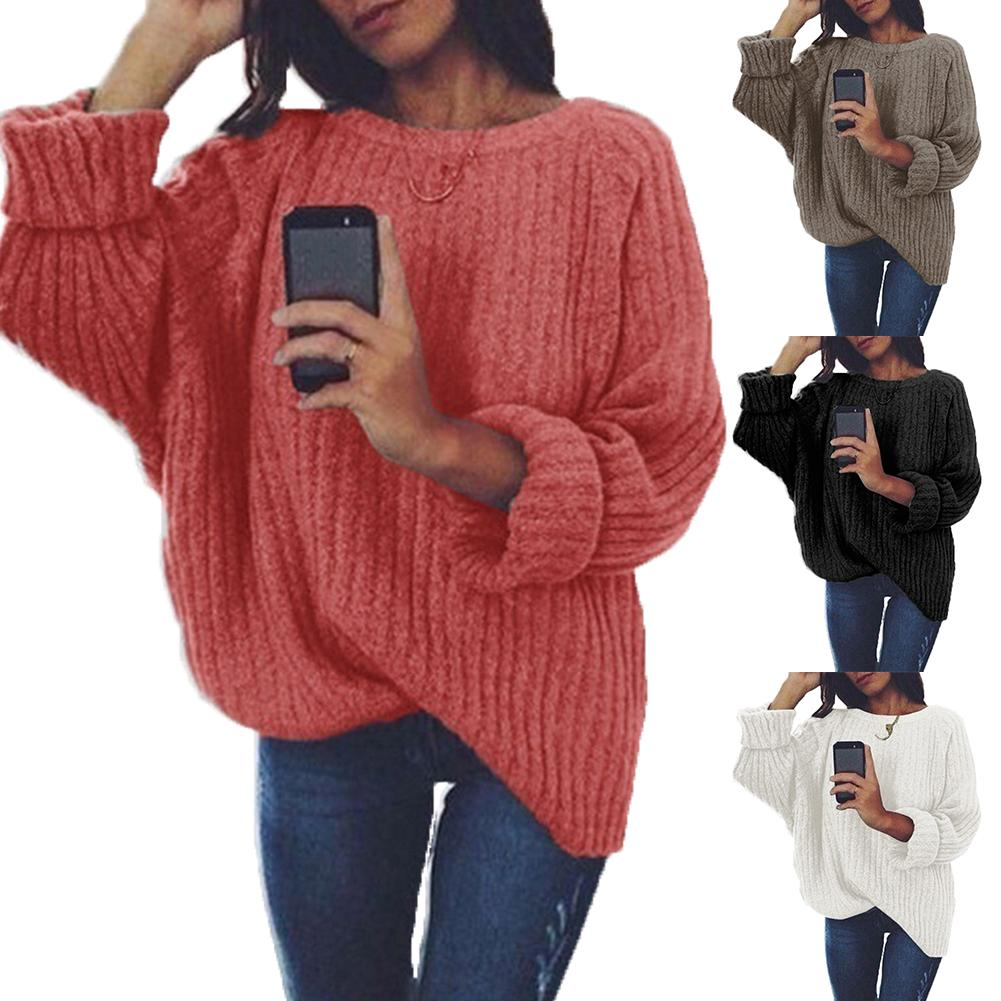 Knitted Sweater Women 2020 Autumn Winter Fashion Female Pullover Sweaters Ladies Loose Knitwear