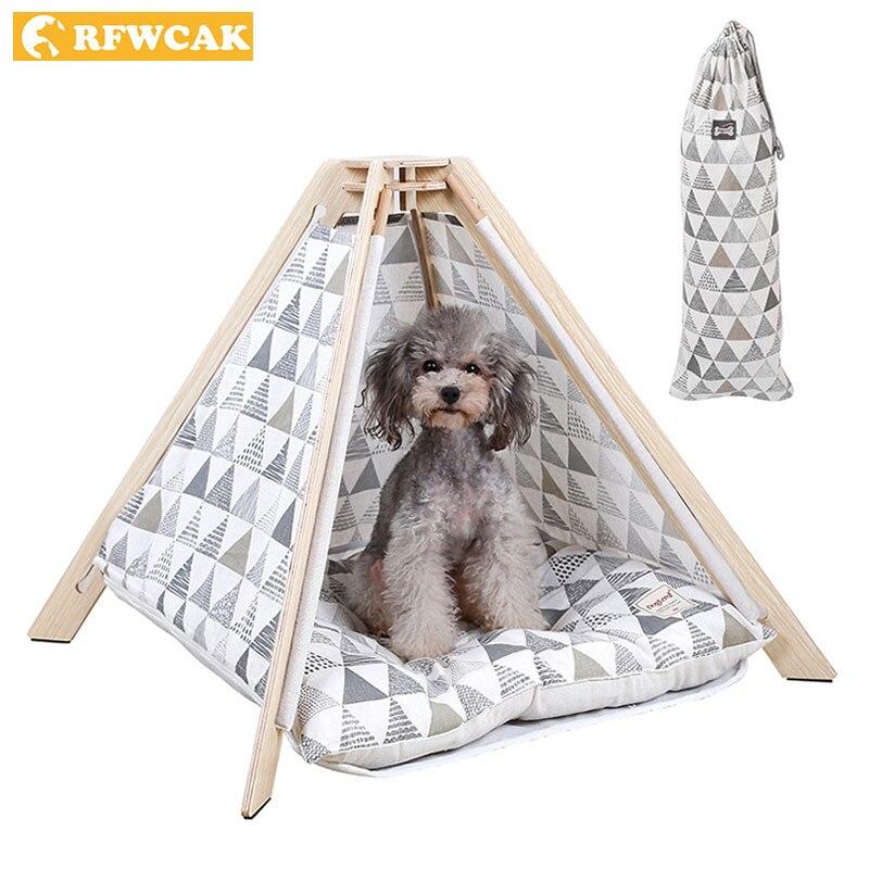 RFWCAK tente pour animaux de compagnie lit pour chien chat jouet maison lit pliable chiot chaton lit Kattenmand Pitbull Chihuahua Cama Perro chenil contient tapis
