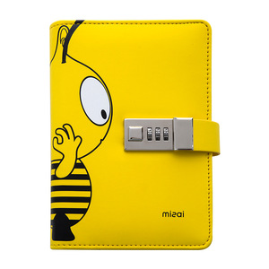 Image 5 - Kawai A6 Diary Planner With Lock Bee Notebook Lockable PU Leather Notepad Traveler Journal DIY Agenda School Stationery Gifts