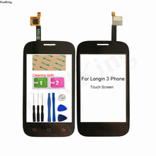 Mobile Phone Touch Screen For Longin 3 Phone Longio3 Touch Panel Digitizer Front Glass Lens Sensor Tools 3M Glue Wipes