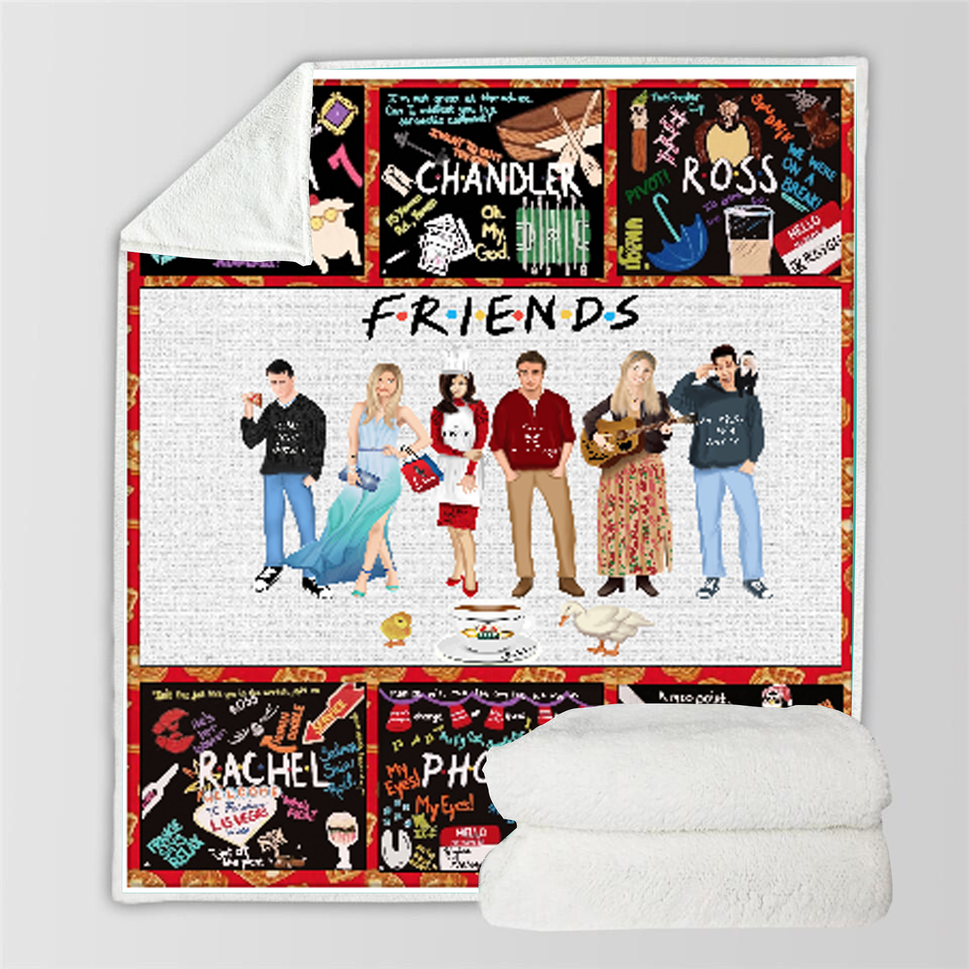 SOFTBATFY Friends Throw Blanket Sofa Bedding Blankets Drop Ship