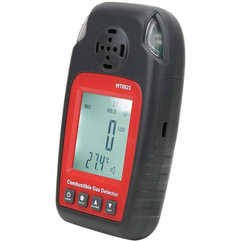 WT8823 LCD Display Combustible Gas Detector Leakage Natural Gas Analyzer High Sensitivity Alarm Gas Leakage Detector