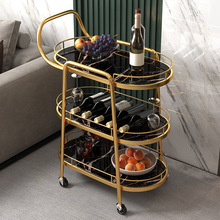 European-style Hotel Restaurant Mobile Home Wheels Ultra-quiet Portable Storage Shop Trolley Dining Car Hand Pushing Dining Car