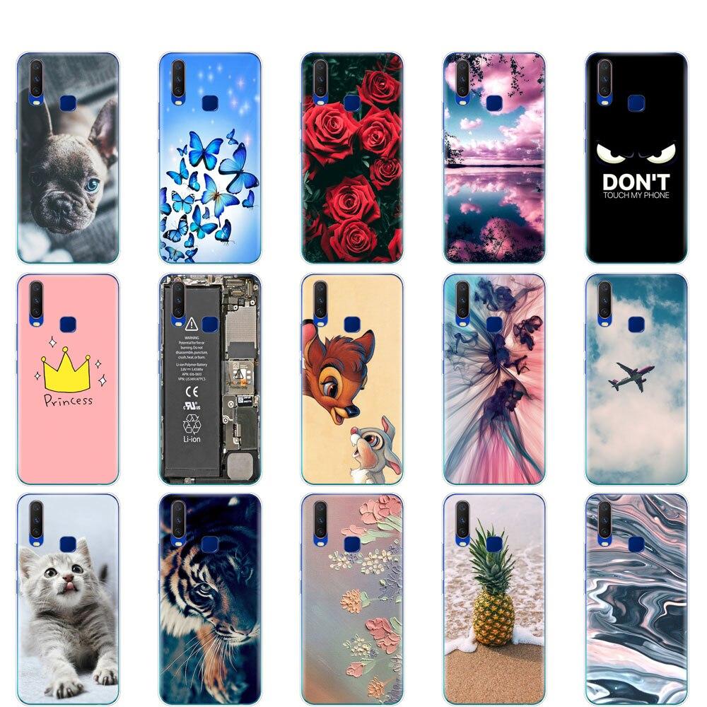 Case For Vivo Y15 Case Soft TPU Silicon Back Phone Cover For Vivo Y12 Y3 6.35
