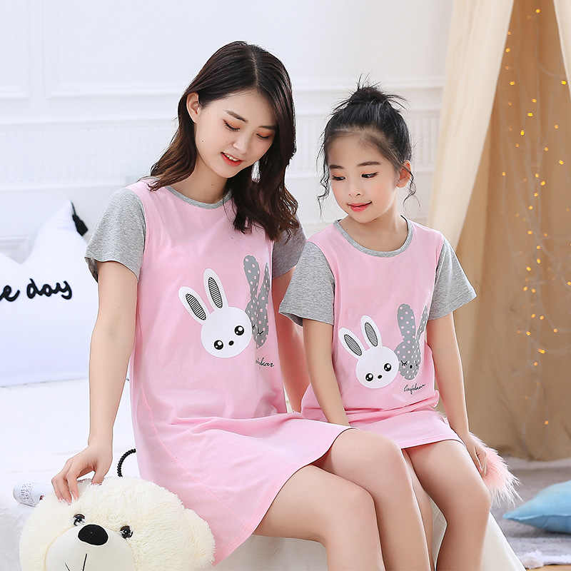 New Fashion Children S Nightdress Girls Rabbit Nightgowns Baby Kids Cotton Pajamas Girls Princess Night Dress Girl Sleepwear Nightgowns Aliexpress