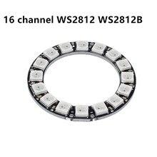 Новый оригинальный 16 канальный 16 бит WS2812 WS2812B WS 2811 5050 RGB СВЕТОДИОДНЫЙ модуль панели лампы 5 в 16 бит Радужный светодиодный точный